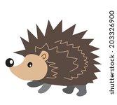 hedgehog vector illustration | Shutterstock .eps vector #203326900