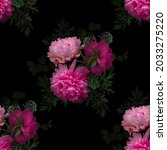 floral summer seamless pattern. ... | Shutterstock . vector #2033275220