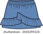 girls and teens denim skirt...   Shutterstock .eps vector #2033294123