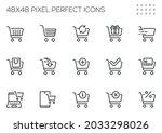 set of vector line icons... | Shutterstock .eps vector #2033298026