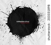 hand drawn vector grunge... | Shutterstock .eps vector #203331898