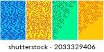set of horizontal different... | Shutterstock .eps vector #2033329406
