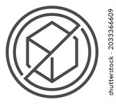 sugar free  square line vector...   Shutterstock .eps vector #2033366609