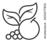 vegetarian foods  square line...   Shutterstock .eps vector #2033377853