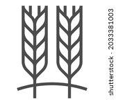 fiber  square line vector icon.   Shutterstock .eps vector #2033381003
