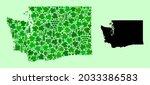 vector map of washington state. ...   Shutterstock .eps vector #2033386583