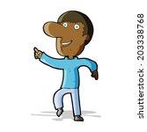 cartoon happy man dancing | Shutterstock .eps vector #203338768