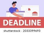 deadline concept  time... | Shutterstock .eps vector #2033399693