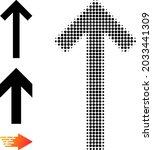 halftone up direction arrow.... | Shutterstock .eps vector #2033441309