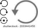 halftone rotate ccw. dotted... | Shutterstock .eps vector #2033441450