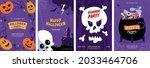 happy halloween greeting card... | Shutterstock .eps vector #2033464706