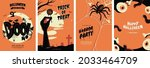 halloween posters collection... | Shutterstock .eps vector #2033464709