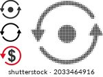 halftone rotation. dotted... | Shutterstock .eps vector #2033464916