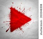 hand drawn vector grunge... | Shutterstock .eps vector #203348308