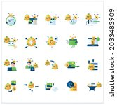 nft flat icons set. non...