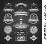 vintage vector design elements. ... | Shutterstock .eps vector #203348629