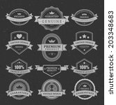 vintage vector design elements. ... | Shutterstock .eps vector #203348683