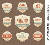 vintage vector design elements. ... | Shutterstock .eps vector #203348713