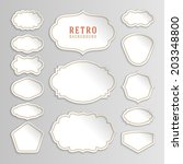 vintage labels design. retro... | Shutterstock .eps vector #203348800