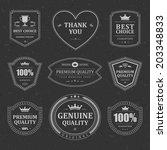 vintage vector design elements. ...   Shutterstock .eps vector #203348833