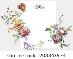 watercolor floral illustration... | Shutterstock . vector #203348974