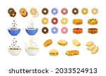 vector set of different... | Shutterstock .eps vector #2033524913