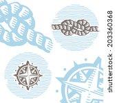 vintage marine symbols vector... | Shutterstock .eps vector #203360368