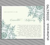 wedding invitation cards with... | Shutterstock . vector #203361790