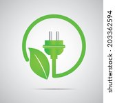 green plant power  | Shutterstock .eps vector #203362594