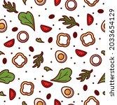 bell pepper or sweet paprika...   Shutterstock .eps vector #2033654129