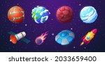 earth  alien planets  rocket ...   Shutterstock .eps vector #2033659400