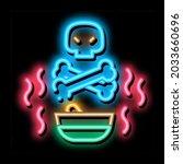 deadly poison neon light sign...   Shutterstock .eps vector #2033660696