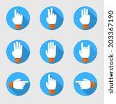 set of flat vector hands make... | Shutterstock .eps vector #203367190