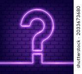 glowing outline neon question... | Shutterstock .eps vector #2033673680