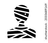 mummy fantasy character glyph... | Shutterstock .eps vector #2033689169