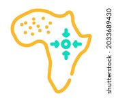 africa continent color icon... | Shutterstock .eps vector #2033689430