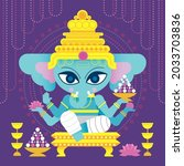 vector illustration of indian...   Shutterstock .eps vector #2033703836