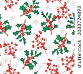 christmas seamless pattern with ... | Shutterstock .eps vector #2033724893