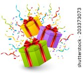 birthday gift boxes for your... | Shutterstock .eps vector #203373073