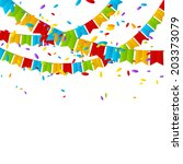 color flags on white background | Shutterstock .eps vector #203373079
