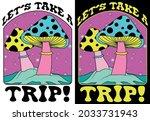 retro 70's psychedelic hippie...   Shutterstock .eps vector #2033731943