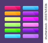 game ui set of flat square with ...