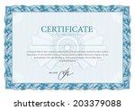 horizontal template certificate ... | Shutterstock .eps vector #203379088