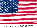usa flag painted | Shutterstock . vector #203379973
