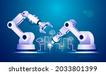 concept of industry 4.0 or...   Shutterstock .eps vector #2033801399