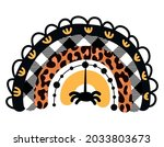 autumn colored rainbow with... | Shutterstock .eps vector #2033803673