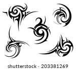 tribal tattoo elements | Shutterstock .eps vector #203381269