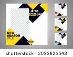 new set of editable minimal... | Shutterstock .eps vector #2033825543