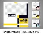 new set of editable minimal... | Shutterstock .eps vector #2033825549