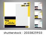 new set of editable minimal... | Shutterstock .eps vector #2033825933